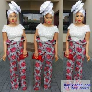 Photos: Actress Mercy Aigbe Slays In This Owambe Outfits